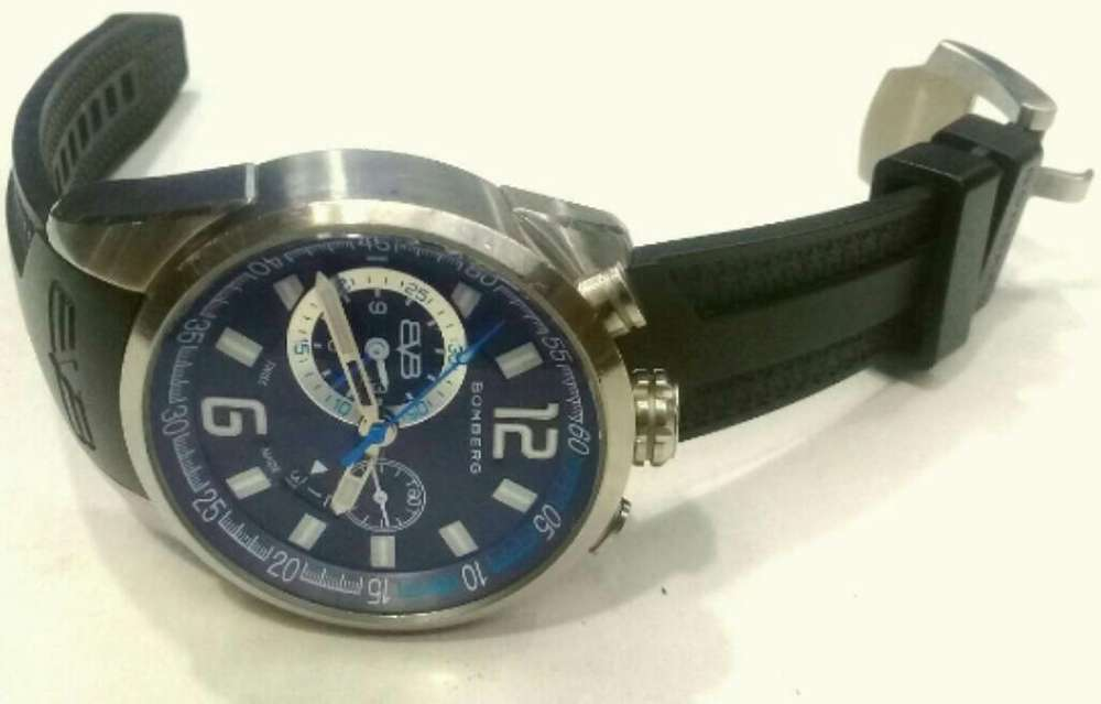 Bomberg Chronograph Blue Dial 42mm
