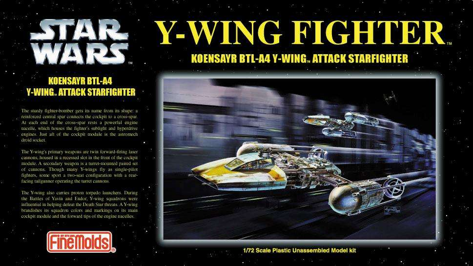 FineMolds Stars Wars YWing Fighter 1/72