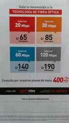 Internet Ilimitado de Fibra Optica