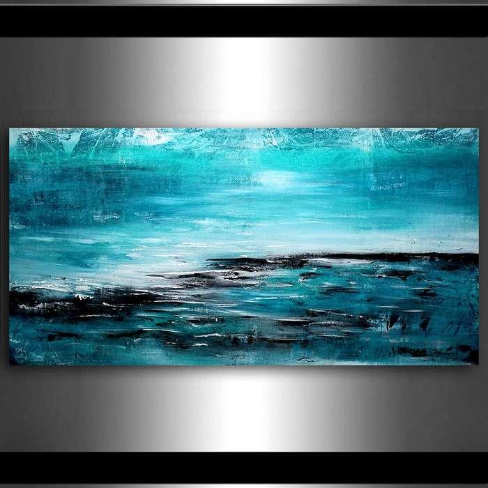 cuadro azulado abstracto 9959