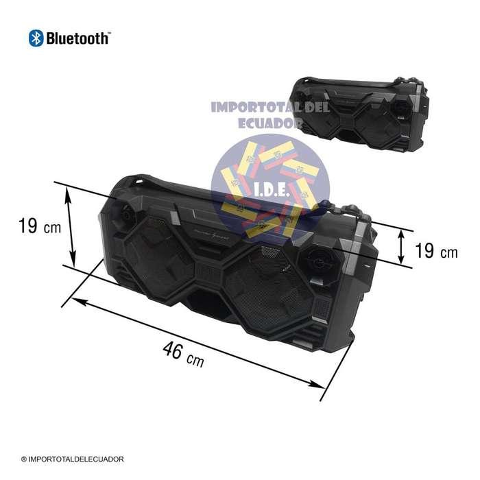 Parlante bluetooth recargable ''nuevo'' lector memorias usb / micro usb / micrófono 6,3 mm karaoke / Thunder Sound B324