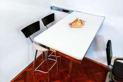 Barra Desayunador, Moderna, Cromada, Diseño Adaptable