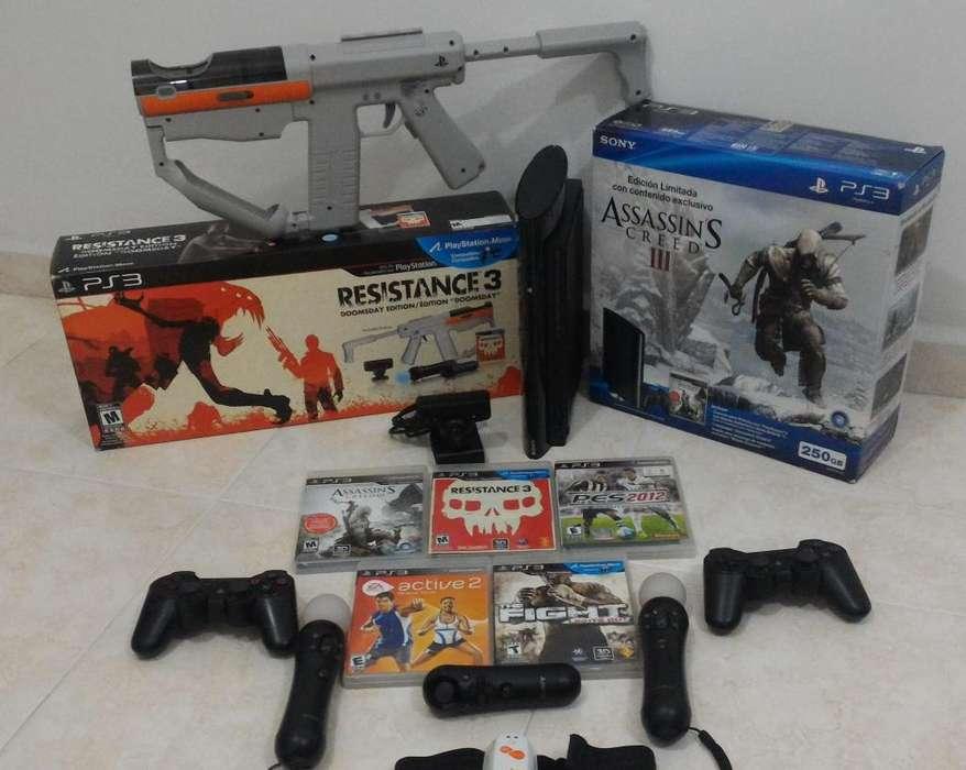 PS3 Con Juegos y los mejores accesorios BARATO!