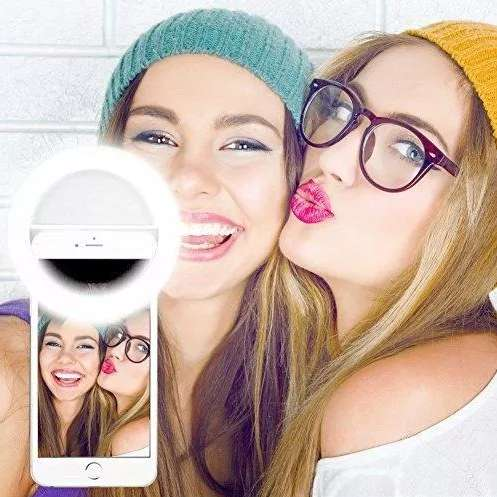 Luz Led Selfie Recargable, No Requiere De Pilas