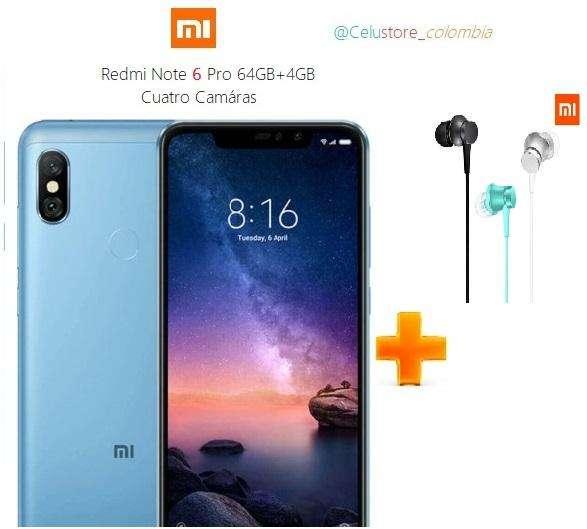 Xiaomi Redmi Note 6 Pro 64gb/4g Obsequio TIENDA FISICA,NUEVO SELLADO, FACTURA LEGAL