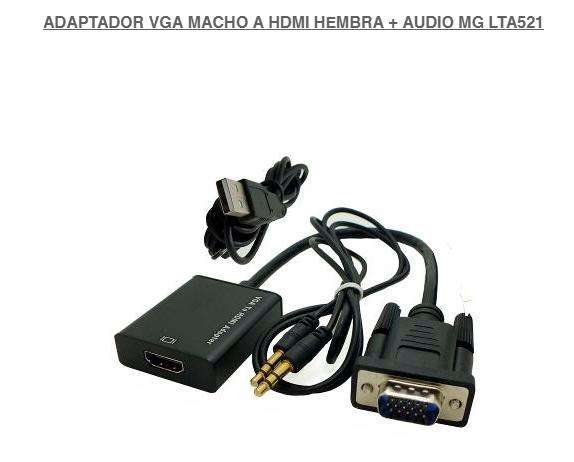 Adaptador Vga Macho A Hdmi HembraAudio plug in Cable HDMI