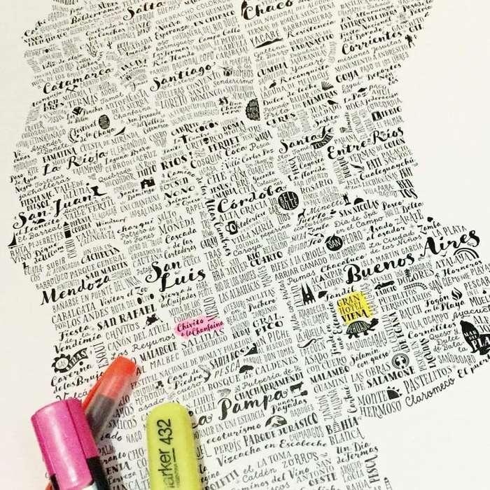 Mapas decorativos para marcar los lugares que ya conociste