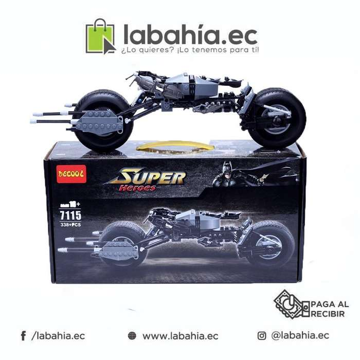 Moto armable, tipo lego. Súper heroe.