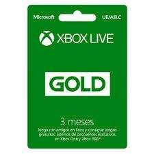 xbox gold 3 meses garantia.
