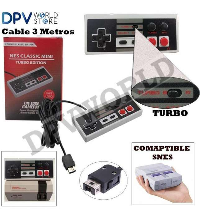 Control Super Nintendo Mini <strong>nes</strong> S<strong>nes</strong> Turbo Edicion Cable 3m