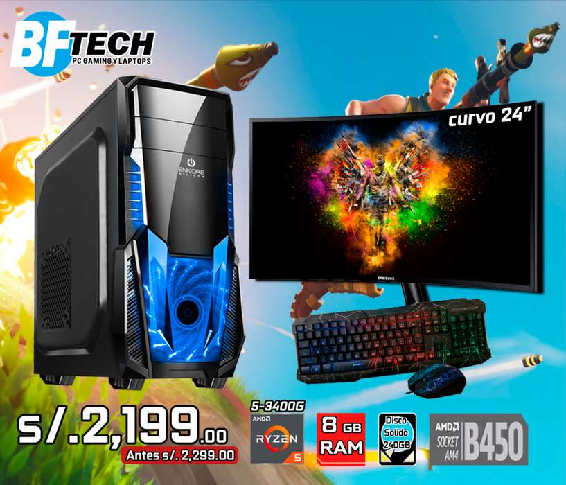 PC GAMING RYZEN 5 3400G 3.7GHz 19