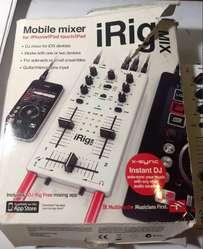 Irig Mix Mezclador Dj Ik Multimedia Djstyle Iphone Ipad USADO