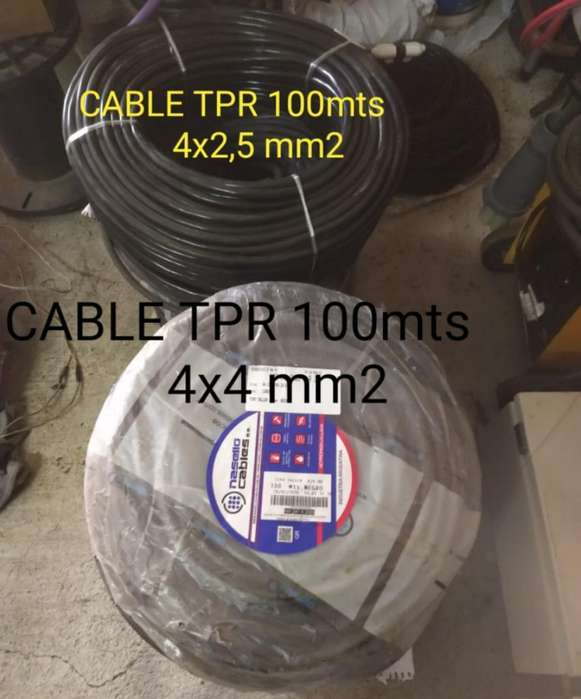 Cable Tipo Taller Tpr 4x2,5mm2 - 4x4 Mm2