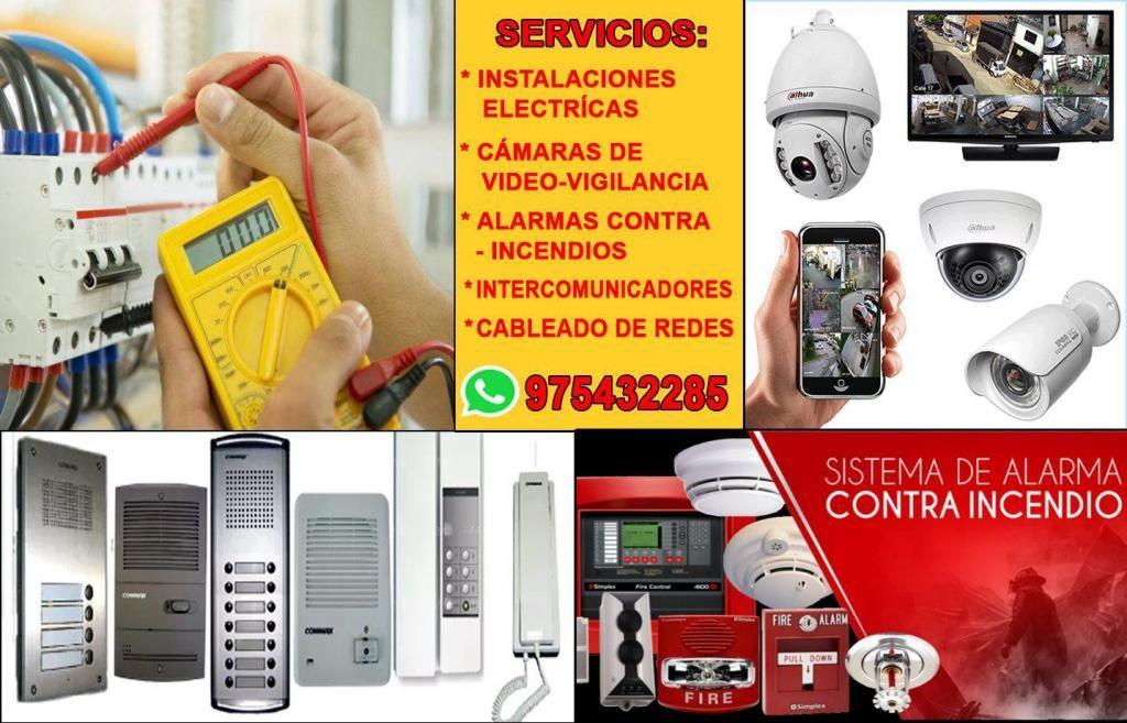 ELECTRICISTA INSTALACIONES CAMARAS INTERCOMUNICADORES SENSORES DE HUMO