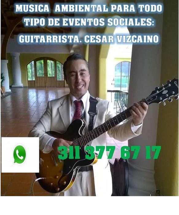 GUITARRA Y VOZ, SHOW SOLISTA, MÚSICA EN VIVO