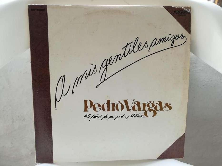disco lp de pedro vargas a mis gentiles amigos 45 años de vida artistica,album original,de dos disco