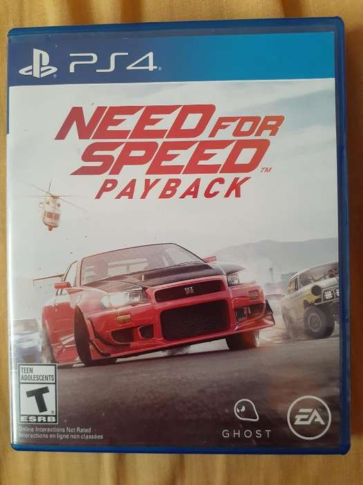 Vendo Juego Ps4 Ned For Speed a 60 Soles