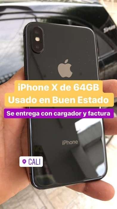 i Phone X de 64 GB Usado