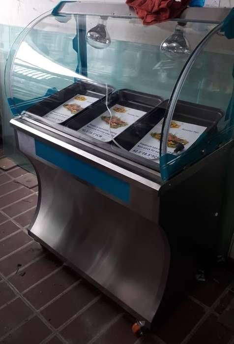 vitrina nueva exhibidora para pollo broaster o empanadas. Con bombillo infrarrojo