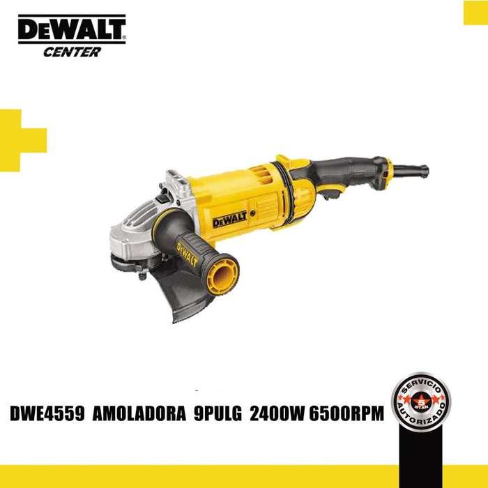 DWE4559 AMOLADORA 9'' 2400 WAT 6500 RPM