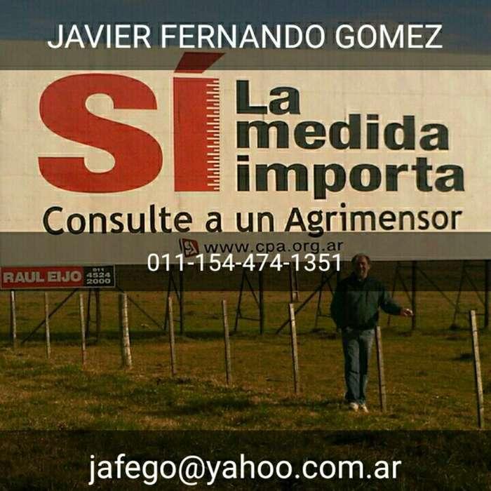 Agrimensor en San Isidro