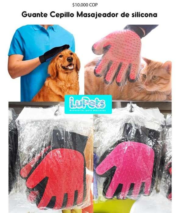 guante cepillo masajeador de silicona <strong>perro</strong>