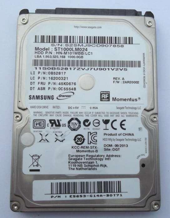 Disco Rígido Samsung 1 Tb para Notebooks