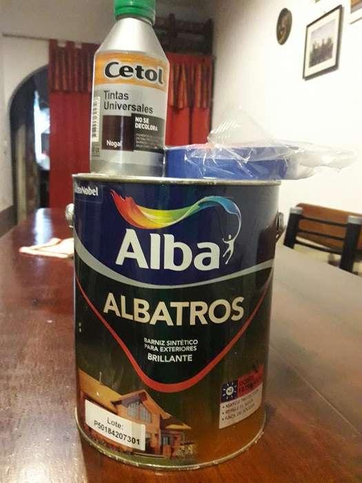 2 Unidades Barniz Albatros Cinta Y Tinta