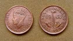 Moneda de 20 cents de plata Isla de Terranova, Canadá 1912