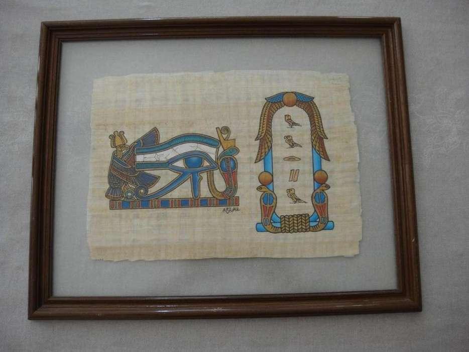 Cuadro egipcio de Horus del Museo del Papiro de Egipto
