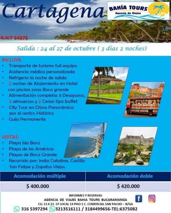 Tour Santa Marta O Cartagena 25 de Octub