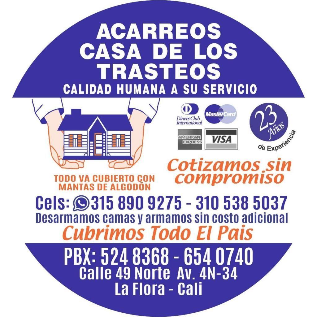 TRASTEOS CASA DE LOS TRASTEOS Y BODEGAS whatsApp 3158909275