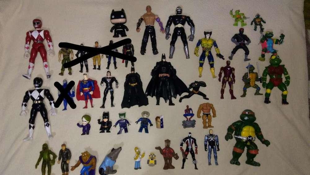 muñecos figuras vintage antiguos Batman Tortugas ninja Superman power rangers