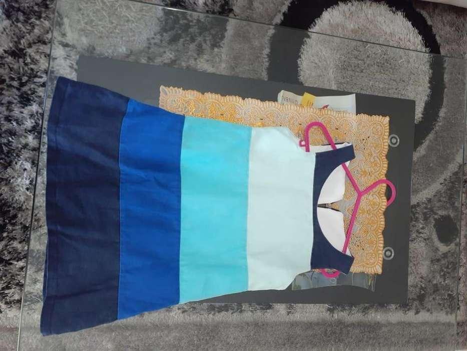 Vestido Franjas Azules