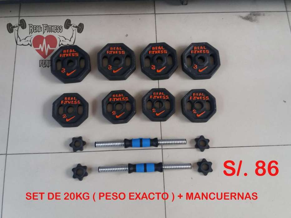 SET DE PESAS ( PESO EXCATO ) 20KG - 24KG - 32KG - 30KG - 40KG - TODO NUEVO