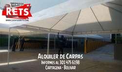 para tus Fiestas y Eventos sociales Alquilamos Carpas Hangar