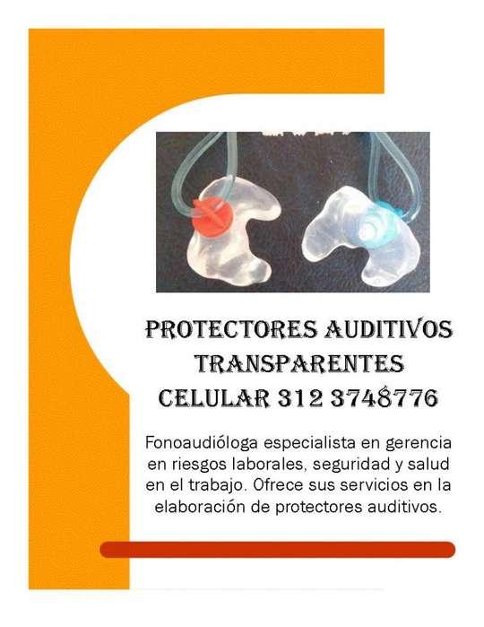 PROTECTORES AUDITIVOS ANATÓMICOS TRANSPARENTES