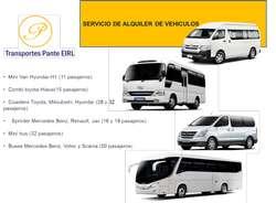 Alquiler de Bus, Custer, Sprinter y Van (Servicio VIP al mejor precio)