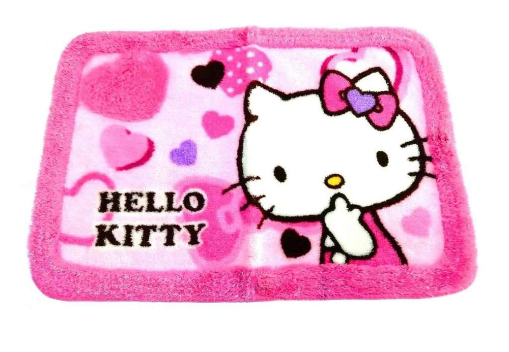 HELLO KITTY ALFOMBRA CORAZON ROSA