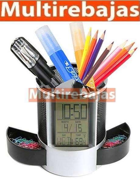 Reloj porta esféro termómetro fecha hora