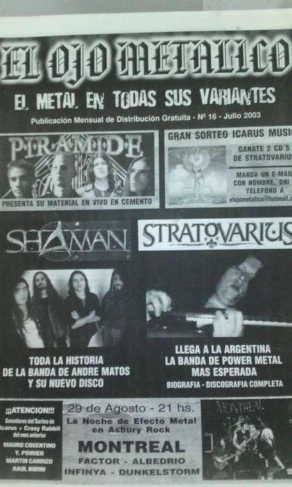 Fanzine El ojo Metalico nro.16