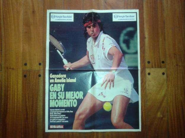Póster Revista El Gráfico Gabriela Sabatini