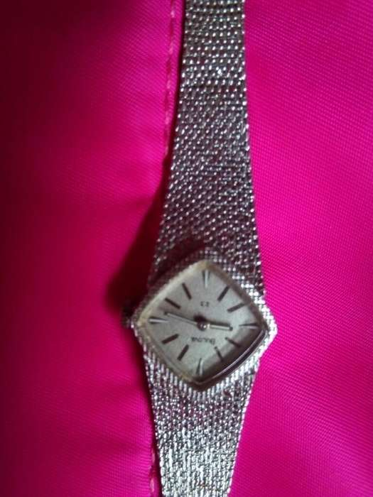 Reloj Bulova Oro Blanco Y Plata