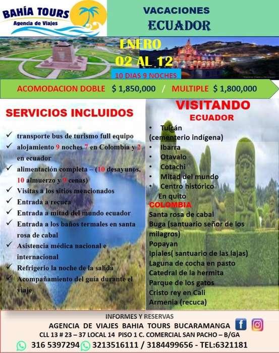 Tour por El Ecuador Salida 2 de Enero