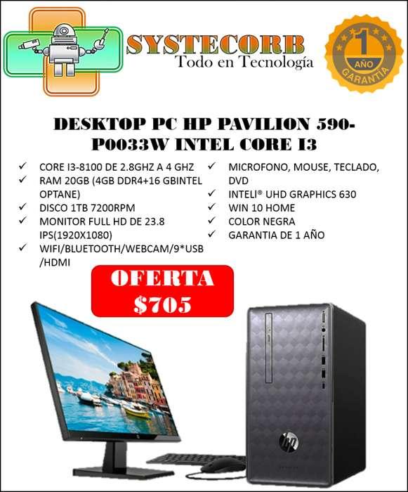 COMPUTADOR DESKTOP PC HP PAVILION 590-P0033W