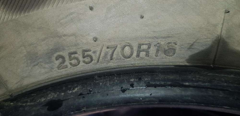 Cubierta Bridgestone 255/70r16 5000