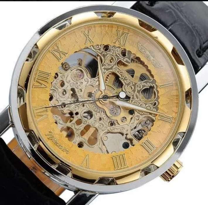 Reloj Hombre Squeleton Corazon Abierto