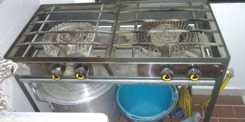 Estufa y vitrina de calefacción