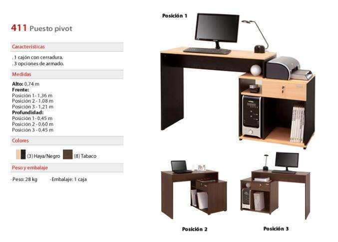 <strong>escritorio</strong> PLATINUM Artículo 411