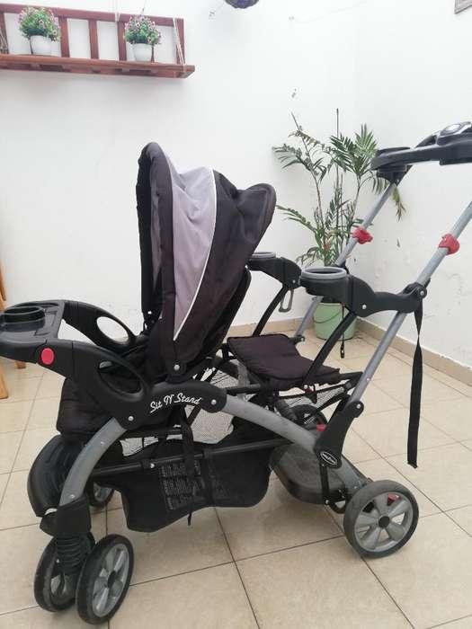 Práctico <strong>coche</strong> Doble para Bebé Y Niño